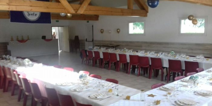 L'étang du Moulin Bleu vous propose une salle de réception pour vos baptêmes, communion, mariage, anniversaire, etc ...